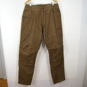 Kuhl Crag Series Waxed Canvas Pants Size 38 x 34 Army Brown Rebel Runner